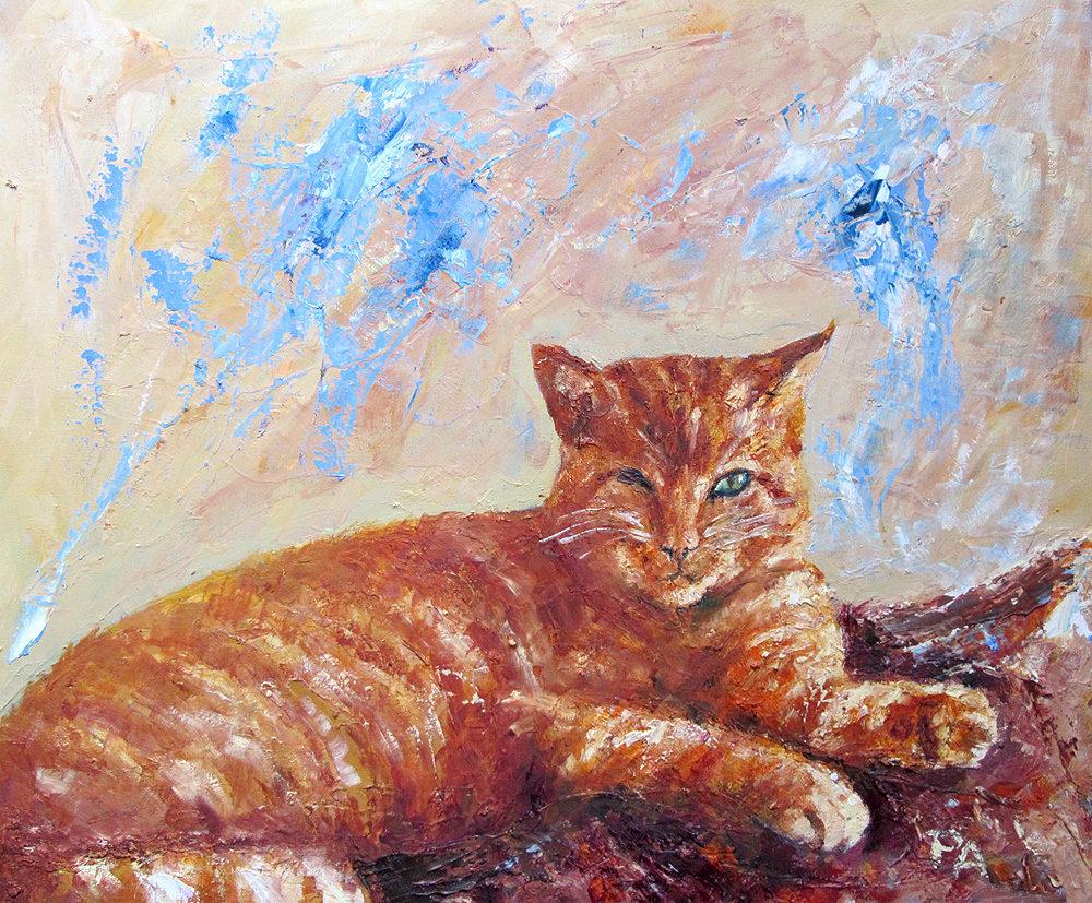 Katze Öl
